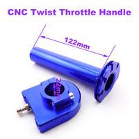 Blue CNC Twist Throttle Handle Controller For Pit Dirt Trail Bike Motor Parts