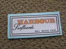 Harbour surfboard sticker surfing longboard Seal Beach California surfer surf
