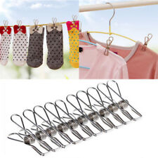 20 x Stainless Steel Clothes Pegs Laundry Windproof Clamp Hanging Clips Hot