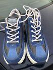 Vintage Y2K 90's Candie's Platform Sneakers 8.5 Blue Suede Wedge Heels Shoes EUC