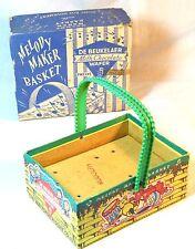 BOXED VINTAGE ANTIQUE DE BEUKELAER BISCUITS SWEETS NOVELTY MELODY MAKER BASKET