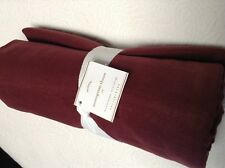 "NEW Pottery Barn Monogrammable 50x60"" Throw Burgundy Dark Red  NWT"