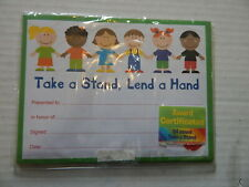 Award Certificates// Take a Stand Lend a Hand