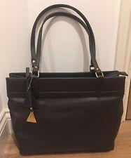 L.credi Grey Italian Leather Large Bag