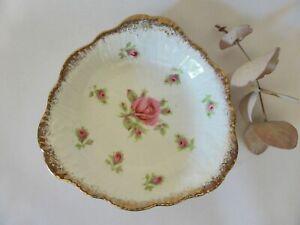 Crown Ducal Ware Jam Dish, 1940s, Pink Roses, Trinket Dish, Vintage China