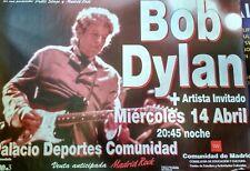 BOB DYLAN MADRID SPANISH BIG PROMO POSTER 100cm X 140cm RARO