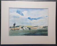 GERALDINE GIRVAN b1947 large original signed water colour - countryside scene