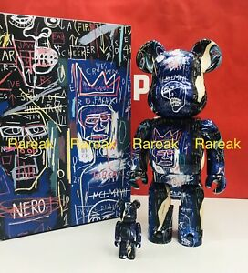 Medicom Bearbrick 2021 Jean-Michel Basquiat #7 400% + 100% be@rbrick 2pcs 07