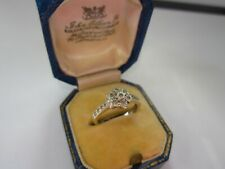 Lovely Ladies 9ct White Gold Diamond Cluster Ring with Accents Size I (Eye) 2.6g