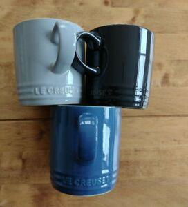 Le Creuset Stoneware set of Coffee Mugs 350ml x3