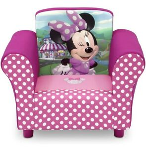 Kids Minnie Mouse Chair Upholstered Toddler Girl Gift Furniture Lounge New