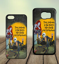Nightmare Before Christmas Jack and Sally Quotes Couple Hard Phone Case Cover