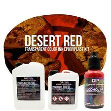 Epoxidharz EpoxyPlast 100P DESERT RED Transparent Farbig Gießharz Epoxy Resin