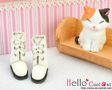 ☆╮Cool Cat╭☆【04-02】Blythe Pullip Doll Shoes Boots # White
