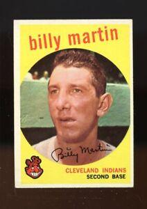 1959 Topps BB Card #295 Billy Martin Cleveland Indians HOF NR-MINT