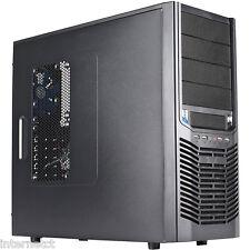 AVP Triton MZ402 ATX mid tower PC CUSTODIA NERA CON LED BLU 120mm Ventola ANTERIORE