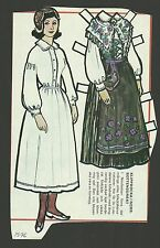 Female Costume Bottensdrakt Sweden Vintage Swedish Paper Doll Look!