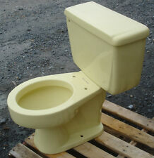 VINTAGE 1965 SAFFRON YELLOW TOILET BY AMERICAN STANDARD - COMPLETE- WE FREIGHT!