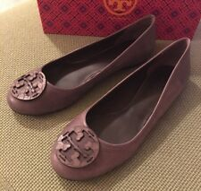 Tory Burch RARE Taupe/Gray Embossed Reva Flats Sz 10.5 Retail $250 SOLD OUT