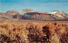 Vintage Postcard; Mono Craters, Mono County CA from Hwy 395 North of Bishop