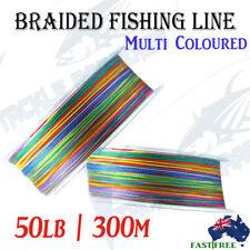 300m 50lb Braid Fishing Line Spectra Dyneema Fluorocarbon Leader Lures Jigging