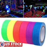 1/3/6 Roll UV Reactive Tape 5M Blacklight Self-adhesive Tape Glow in The Dark US