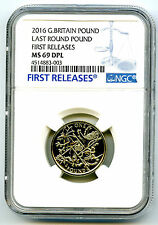2016 GREAT BRITAIN LAST ROUND POUND NGC MS69 DPL DEEP PROOF FIRST RELEASES TOP !