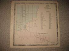 SUPERB ANTIQUE 1864 MANHEIM STRASBURG LANCASTER COUNTY PENNSYLVANIA MAP RAILROAD