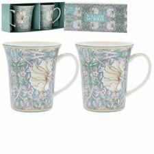 William Morris Pimpernel Floral Set 2 Tazas En Caja De Regalo Té Café LP94403