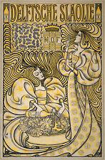 Repro Art Nouveau Print  'Delftsch Slaolie' by Jan Toorop