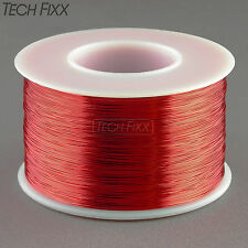 Magnet Wire 34 Gauge AWG Enameled Copper 3930 Feet Coil Winding 155C Red