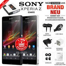 Neu Versiegelt Ohne Simlock SONY Xperia Z C6603 Schwarz Weiß 16GB Android Handy