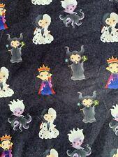 New! Custom 100% Woven Cotton Poplin Fabric Disney Villains In Stock Per Yard