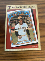 (100) 1987 Topps Roberto Clemente NM+ #313 Turn Back Clock Pittsburgh Pirates
