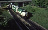 CN GO Railroad Train BAYVIEW Passenger Cars Original 1983 Photo Slide