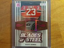 SCOTT GOMEZ 2017 ITG BLADES OF STEEL 3CLR GAME USED SKATE RELIC #12/19 RARE! NHL