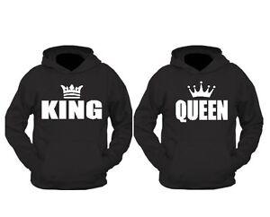 KING und QUEEN Pulli sweatshirts Neu trend -Neuware*SUPER PREIS*