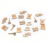 50x sewing tool wooden handmade buttons scrapbooking carft for decoration H Nd