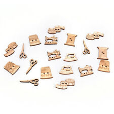 50pcs sewing tool wooden handmade buttons scrapbooking carft for decors Pip JH