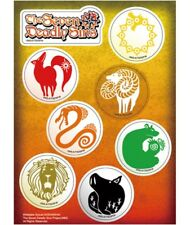 THE SEVEN 7 DEADLY SINS - Stickers Set RARE AUTHENTIC BRAND NEW