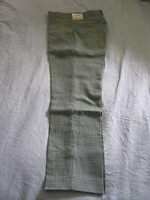 Mens Vintage Farah Green Classic Checkered Plaid 28x31 Thin Skinny Dress Pants!
