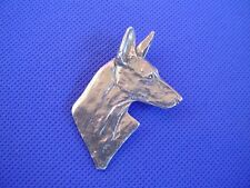 Ibizan Hound pin #72A Pewter Sighthound dog jewelry by Cindy A. Conter
