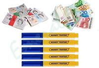 5 x Money Tester Pen Counterfeit Bank Note Detector Pens - Same Day Dispatch