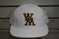 COLLEGE OF WILLIAM AND MARY TRIBE NCAA NEW SNAPBACK WHITE VINTAGE RARE