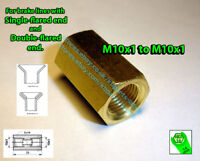 Brake Line Pipe Brass Inline Female Fitting Connector Coupler M 10 x 1 Metric D