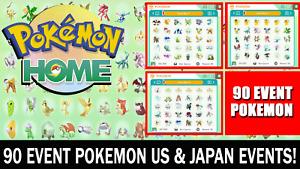 Pokemon Home Sword and Shield 90 Event Pokemon! Living Dex / National Dex