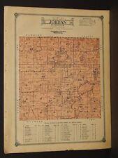 Minnesota Fillmore County Map 1915 Jordan Township W3#45