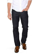 Mott + Bow Oliver Straight Mid Rise Jeans in Dark Blue Size 36 x 32 Cotton Blend