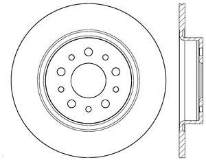 Rr Premium Brake Rotor Centric Parts 120.04003