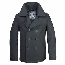 Brandit - Men's Peacoat, US Style Navy Jacket Pea Coat Jacket Coat NEW